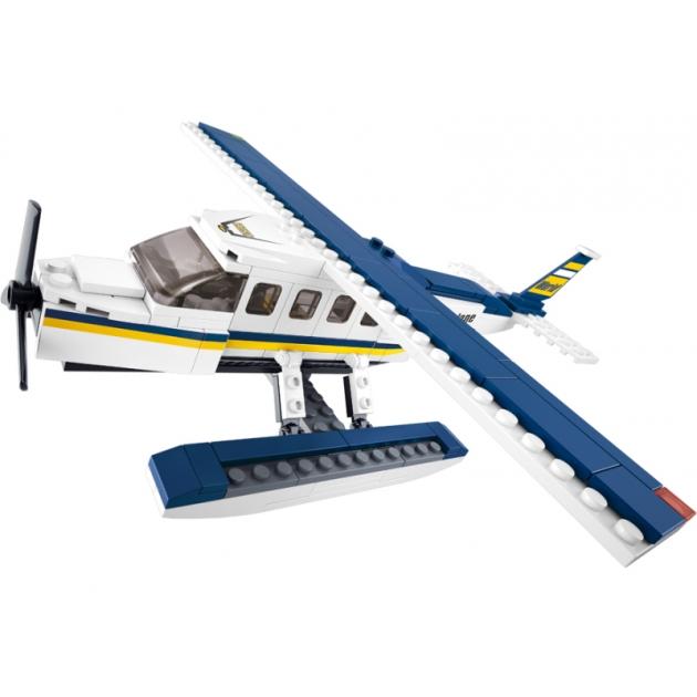 Конструктор авиация самолет на водных лыжах 214 деталей Sluban Б51057