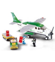 Конструктор авиация грузовой самолет и погрузчик 251 деталь Sluban Г51058...