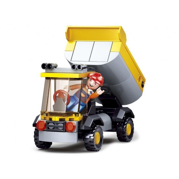 Конструктор с фигуркой город грузовик 83 детали Sluban M38-B0377A
