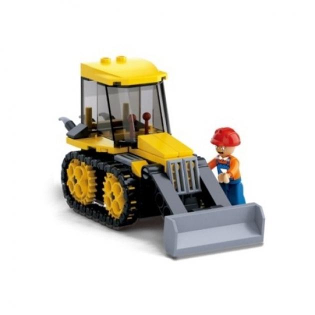 Конструктор город трактор 132 детали Sluban M38-B0377D
