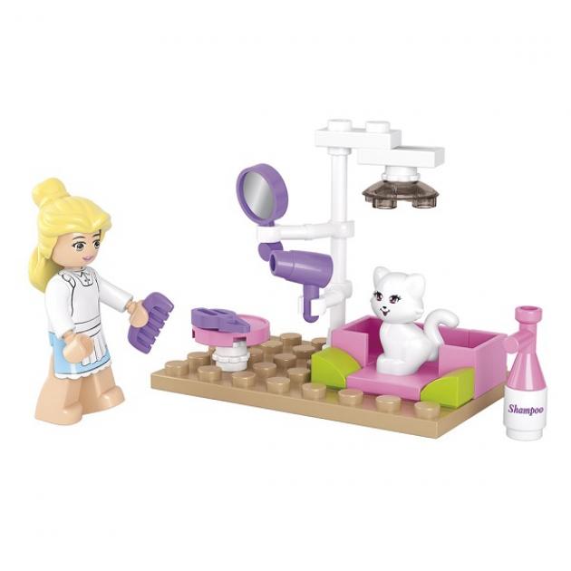 Конструктор розовая мечта парикмахерская для животных 30 Sluban M38-B0515