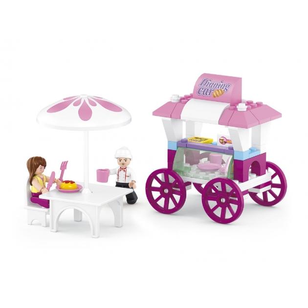 Конструктор розовая мечта кафе на колесах 78 деталей Sluban M38-B0522