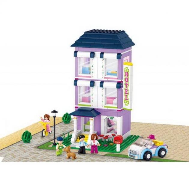 Конструктор розовая мечта гостиница 541 деталь Sluban M38-B0531