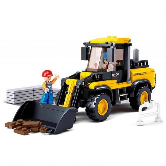 Конструктор город трактор погрузчик 212 деталей Sluban M38-B0538