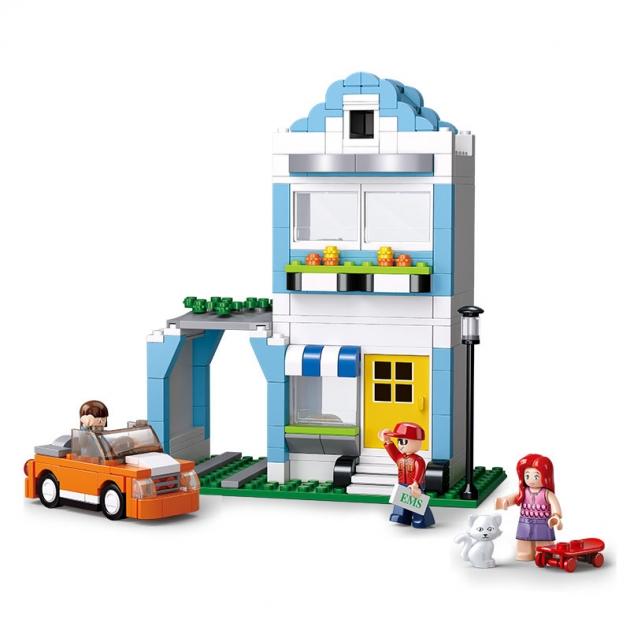 Игровой конструктор город домик с машинкой 305 деталей Sluban M38-B0572