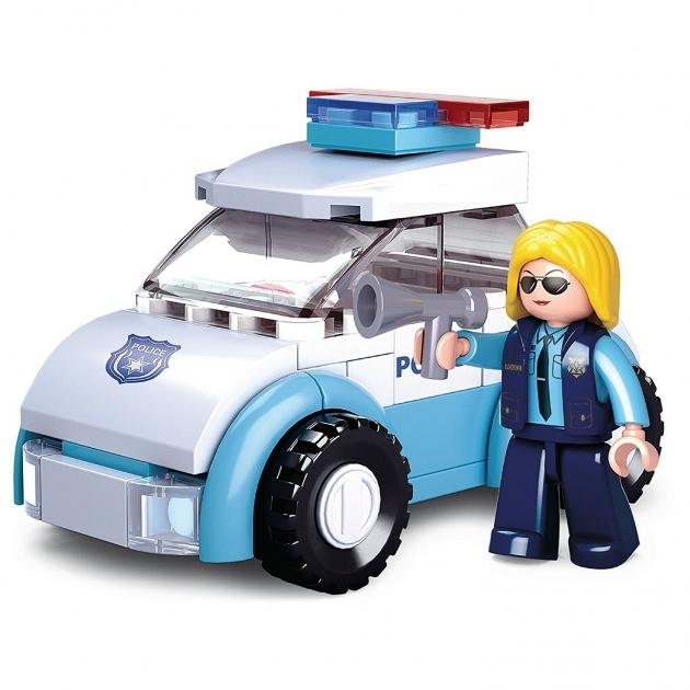 Конструктор розовая мечта полицейская машина 68 деталей Sluban M38-B0600B