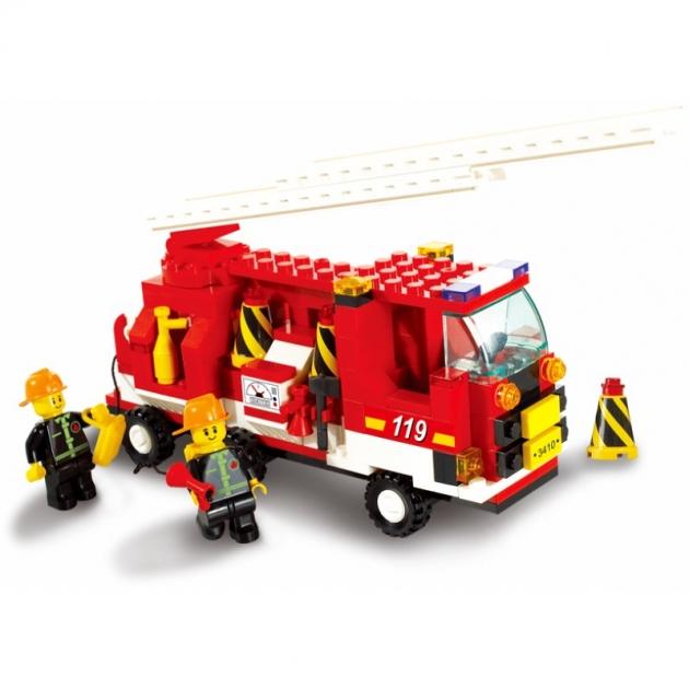 Конструктор город пожарная команда 175 деталей Sluban M38-B3000