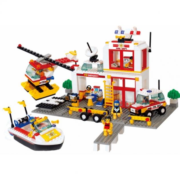 Конструктор пожарная команда служба спасения 463 детали Sluban M38-B3700