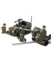 Конструктор сухопутные войска зенитное орудие и джип Sluban M38-B5900...
