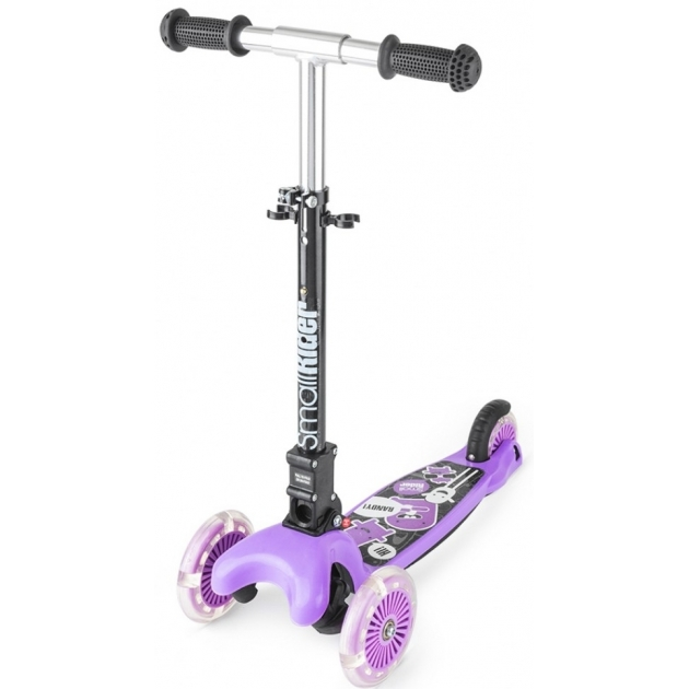 Самокат со светящимися колесами Small rider randy flash фиолетовый