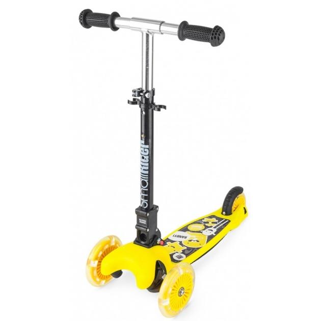 Самокат со светящимися колесами Small rider randy flash жёлтый
