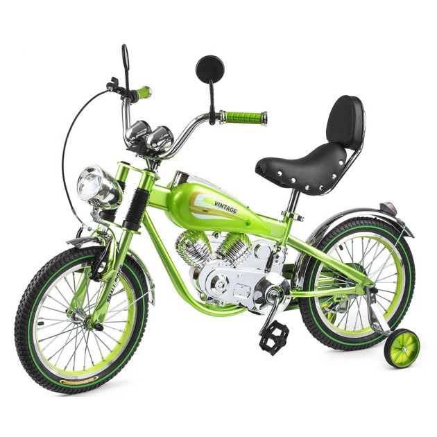 Детский велосипед мотоцикл Small rider motobike vintage зелёный