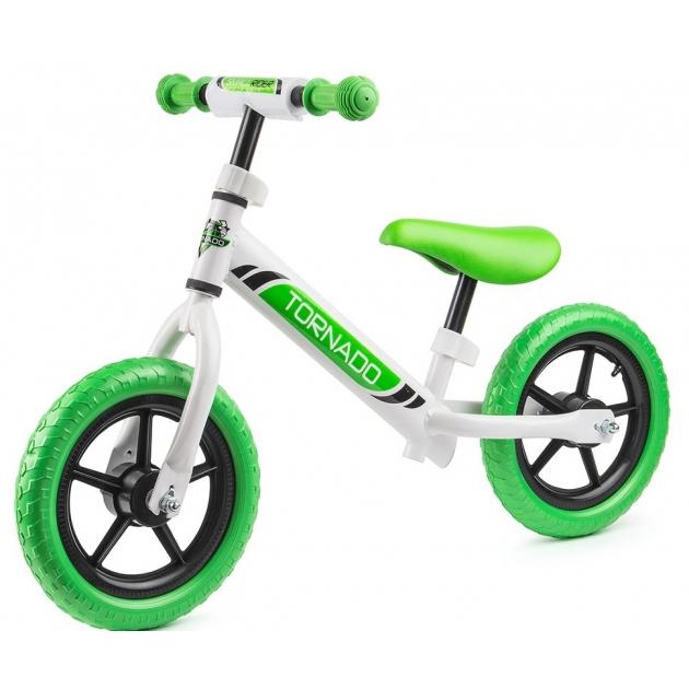 Детский беговел Small rider tornado с цветными покрышками зеленый