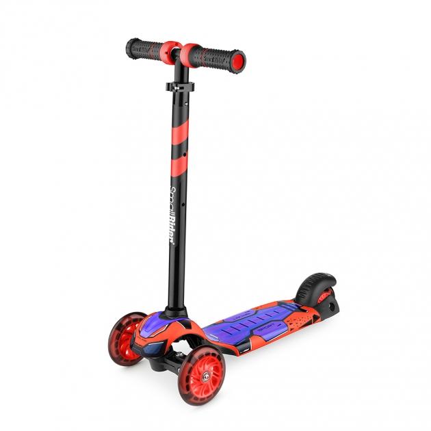 Детский трехколесный самокат Small rider turbo красный