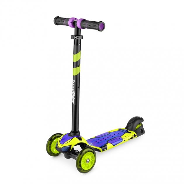 Детский трехколесный самокат Small rider turbo лайм