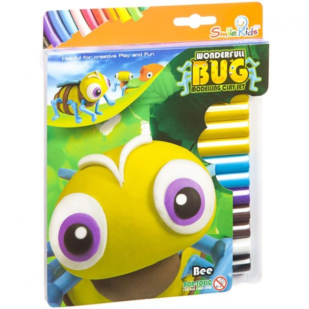 Набор для лепки из мягкого пластилина пчела Smile Kids SK-150WB_пчела