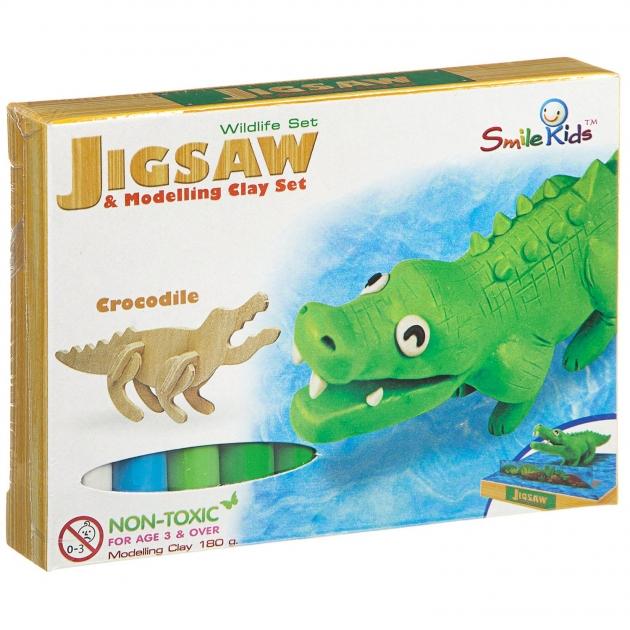 Создай фигурку из пластилина крокодил Smile Kids SK-B180-WL_крокодил