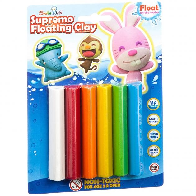 Набор плавающего пластилина 6 цветов Smile Kids SK-FC80/6C