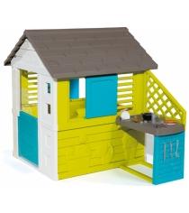 Игровой домик с кухней синий Smoby 810711