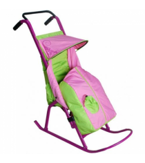 Санки коляски Скользяшки Снегурочка 1 розовый