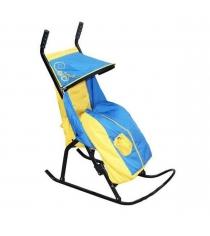 Санки коляски Скользяшки Снегурочка 1 желтый голубой