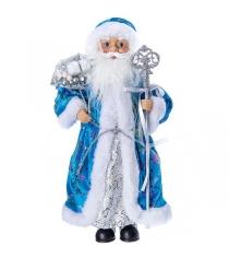 Дед мороз с подарками 36 см голубая шуба Snowmen Е96404