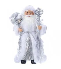 Дед мороз с подарками 30 см серебряная шуба Snowmen Е96409