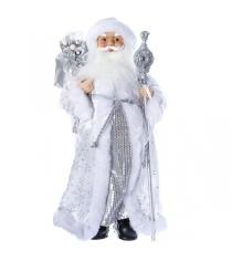 Дед мороз с подарками 46 см серебряная шуба Snowmen Е96408