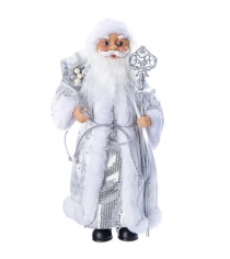 Дед мороз с подарками 36 см серебряная шуба Snowmen Е96410
