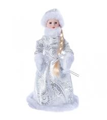 Снегурочка 30 см серебряная шуба Snowmen Е96412