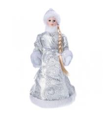 Снегурочка 36 см серебряная шуба Snowmen Е96413