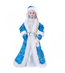 Снегурочка 36 см голубая шуба Snowmen Е96416