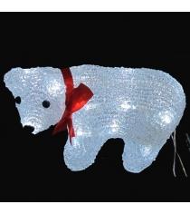 Светящаяся фигурка медвель белый Snowmen Е96499