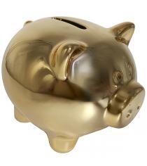 Копилка символ года свинья покрытие под золото 12x10x11 см Snowmen Е96591
