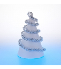Новогодняя мишура спираль серебряная 2 м Snowmen А4015Д