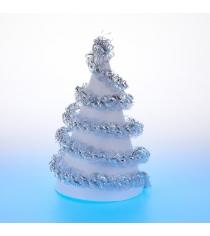 Новогодняя мишура большая спираль серебристая 2 м Snowmen А4019Д