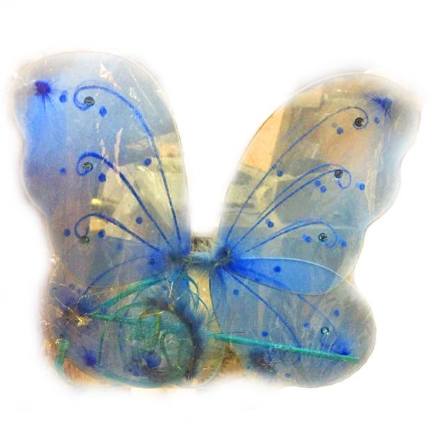 Карнавальный набор бабочка голубой 33 см Snowmen Е91189