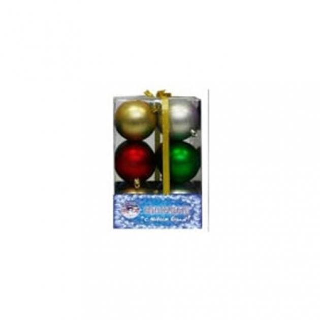 Набор новогодних шаров разноцветные 12 шт 7 см Snowmen Е0051