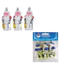 Набор из 3 елочных игрушек дед мороз 10 см Snowmen Е0102