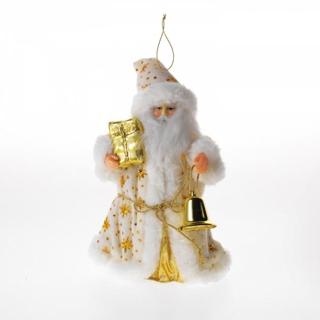 Фигурка дед мороз с подарком и колокольчиком 25 см Snowmen Е0257