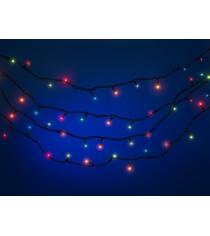 Новогодняя электрогирлянда с цветными лампами 100 ламп 6.62 м Snowmen Е2019
