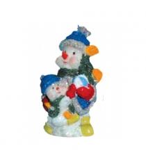 Новогодняя свеча два снеговика с мячом Snowmen Е40435