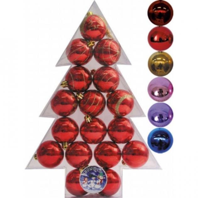 Подарочный набор из 17 елочных шаров елочка 6 см Snowmen Е50243