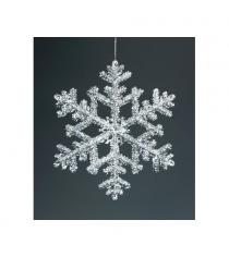 Новогоднее украшение снежинка 15 см Snowmen Е50353