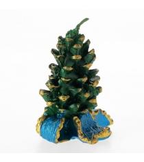 Новогодняя свеча шишка и бантик Snowmen Е50519