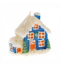 Новогодняя свеча домик 7 см Snowmen Е50520