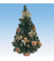 Новогодняя елка с инеем и украшениями 61 см Snowmen Е60294