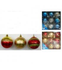 Набор новогодних шаров ручной работы 9 шт 6 см Snowmen Е70265