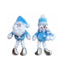Новогодняя мягкая игрушка с ногами из снежков 18 см Snowmen Е80325