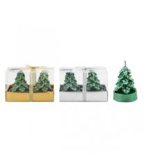 Новогодний набор из 2 фигурных свечей елочка 8 см Snowmen Е91112